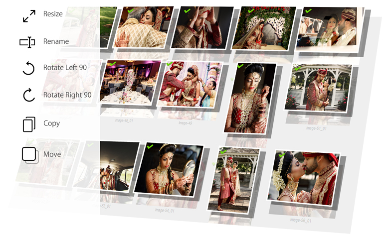 Manages your Photos effectively Rotate, Resize, Sort, Select, Copy & Move with Album Xpress Pack