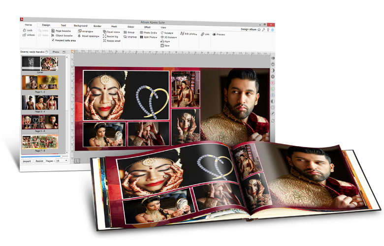 Album Designing Software with advance Tools, Features & controls given with Album Xpress Pack