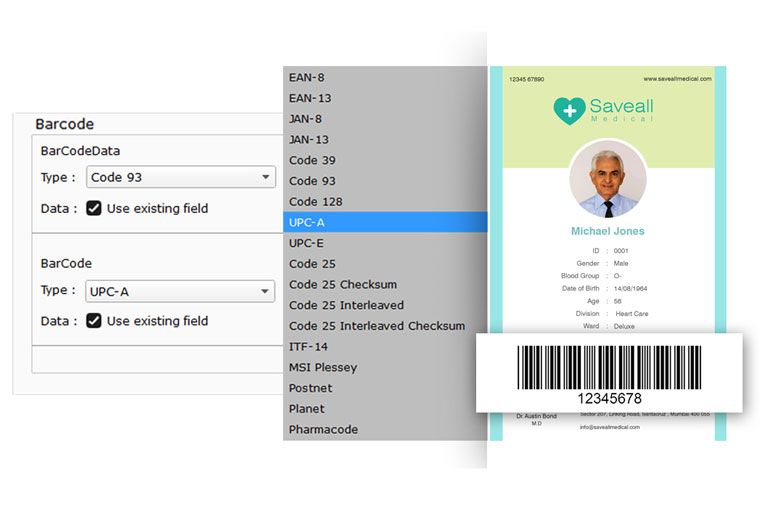 Get bar code scanning for every different field within Icard Xpress