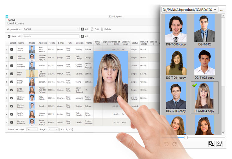 Do quick photo assignment from just drag & drop photos from folder to data with Icard Xpress