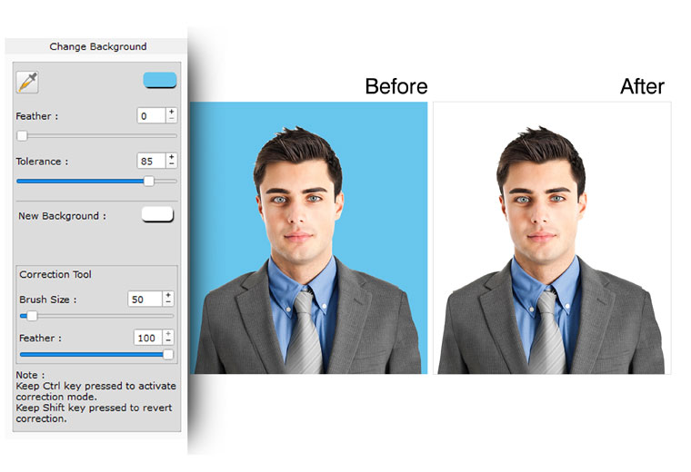 Do background replacement with Lasso in Edit Xpress a software within Icard Xpress