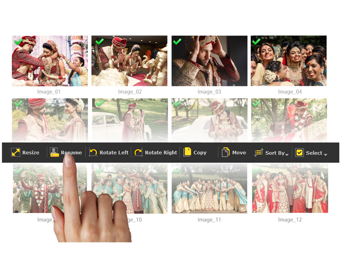 Manages your Photos effectively Rotate, Resize, Sort, Select, Copy & Move with Album Xpress Pro