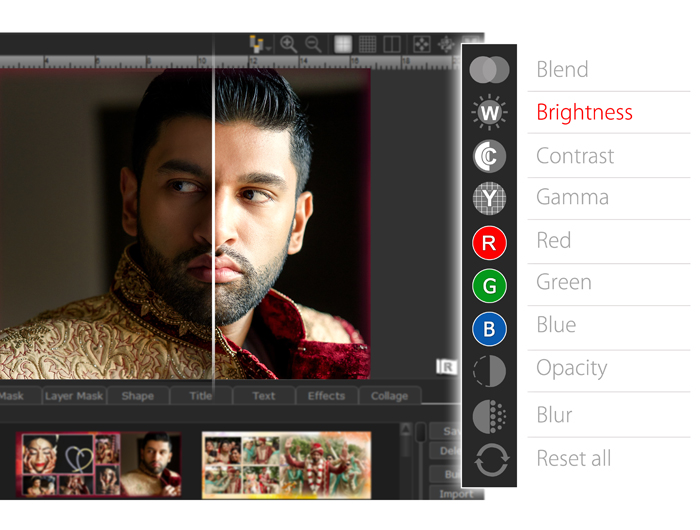 Improvised Designing experience with instant & quick preview of album pages in Album Xpress Pro