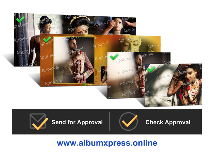 Inbuilt approval Platform to get the Wedding photos and albums approved anytime in Album Xpress Pro