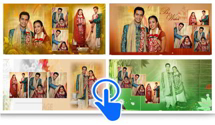 Change templates in one click. Get many compositions for page with Album Xpress Pro