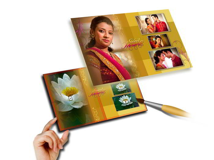 Design own templates decors or import own design and save them for future use with Album Xpress Pro