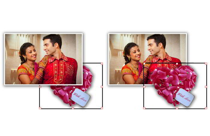 To get attractive designs arrange objects like photos, clipart & shapes within Album Xpress Pro