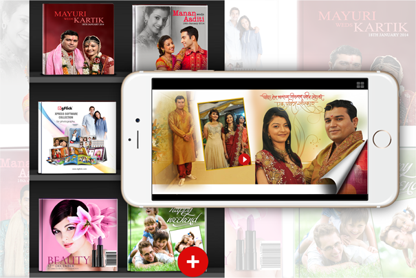 Create your digital portfolio with all published albums through Album Xpress App.