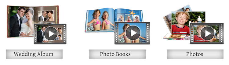 Make videos of Albums, Photo book & photos with multiple things in Video Xpress