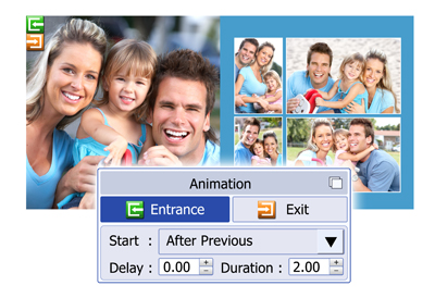 Manage entry & exit of the object animation in Video Xpress.