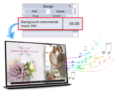 With Video Xpress add a background song to videos.