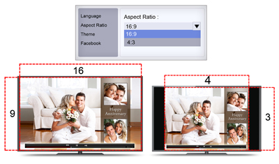 The aspect ratio of video can be decided before creation of the video with video xpress software