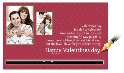 Express your feelings bit more by writing some messages about event or photos with Video Xpress