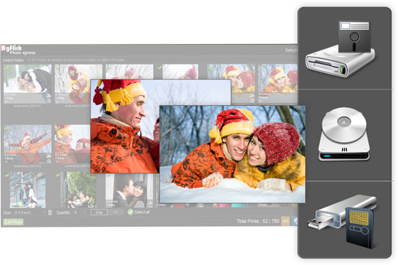 Get Import flexibility of photos directly from customer's in Photo Xpress