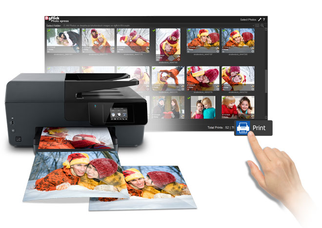 Instant printing of orders on connected printers with Photo Xpress