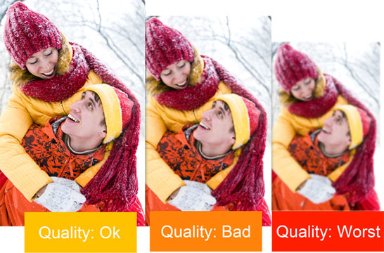 Photo Xpress having inbuilt Quality Indicator which helps  to avoid bad prints of photos