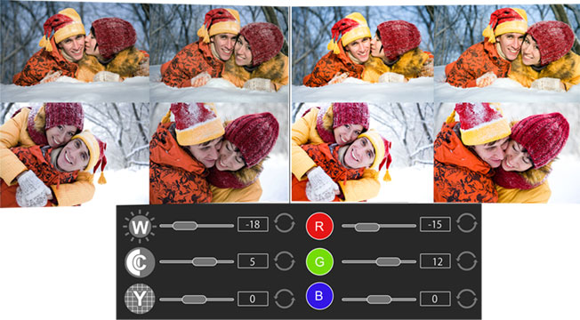 Manage Fast Photo editing for multiple photos like BCG and RGB correction of photos in Photo Xpress