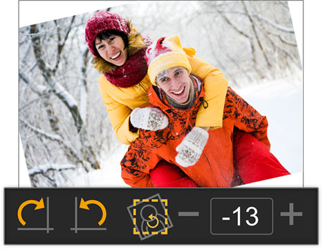 Go for instant rotation of photo in clockwise and counter clockwise with Photo Xpress