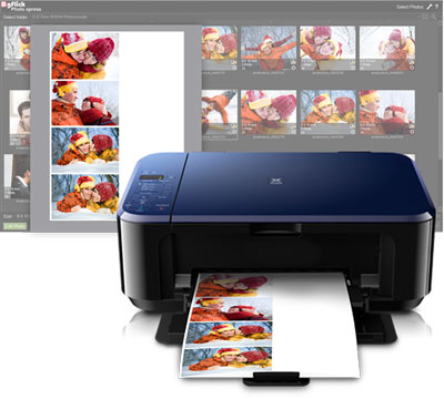Instant imposition of photos when your printer supports large paper prints with Photo Xpress