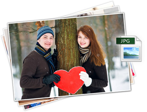 Generate JPG output of photos in selected size and print anytime anywhere in Photo Xpress