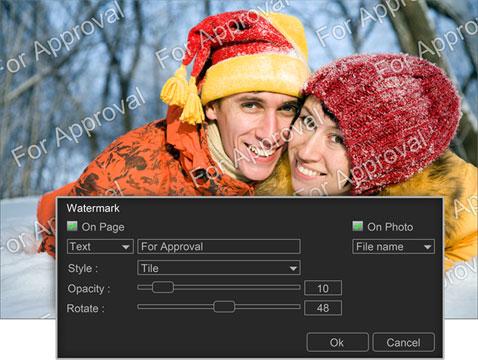 Add Watermark / Logo on photo prints within Photo Xpress
