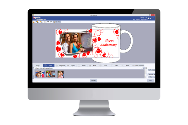 Design personalized gifts like mug, keychains, t-shirts, mobile covers, pillow covers with Gift Xpress