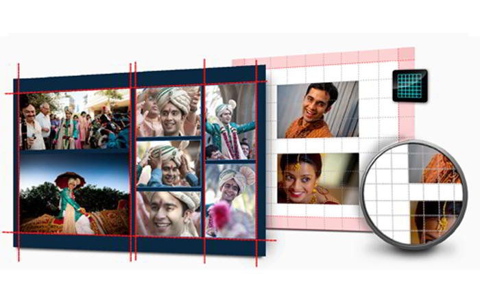 Advance Page Composition like Grids, Object/Page based alignment, Auto Collage in Album Xpress Pro