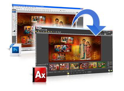 Convert PSD Templates to Album Xpress templates & get Frame, Background, Clipart in Album Xpress Pro