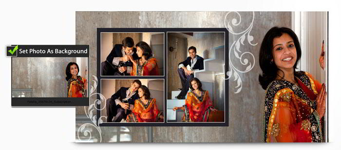 Use Photo as Background and make Personalized album with Album Xpress Pro