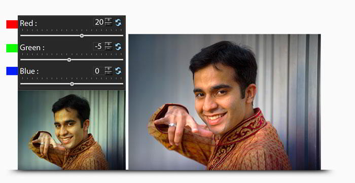 Manage (RGB) Color correction while photo editing in Album Xpress Pro