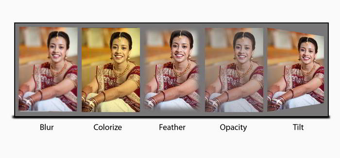 Style photo with effects like Colorize, blur, shadow, opacity, feather for photo in Album Xpress Pro
