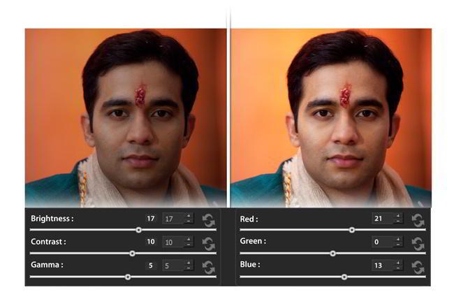 Do On Board color correction of photos within Album Xpress Pro