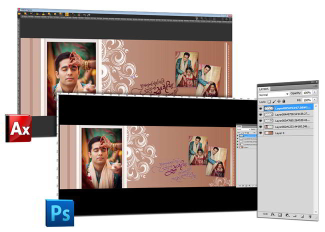 Directly edit photos in Photoshop software right from Album Xpress