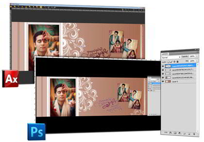 Export to PSD format- Get layered PSD & easy PSD file generation without efforts in Album Xpress Pro