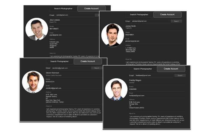 Album Xpress Publisher-Pro allows you to include Any Profile with every eAlbum+ you create.