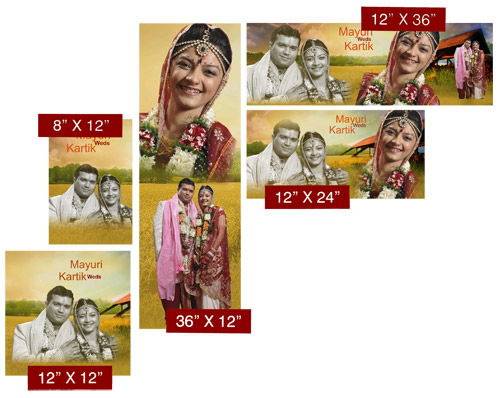 Design articles as per your requirement in ready page sizes like 12 X 36, 12 X 24 with DM Xpress