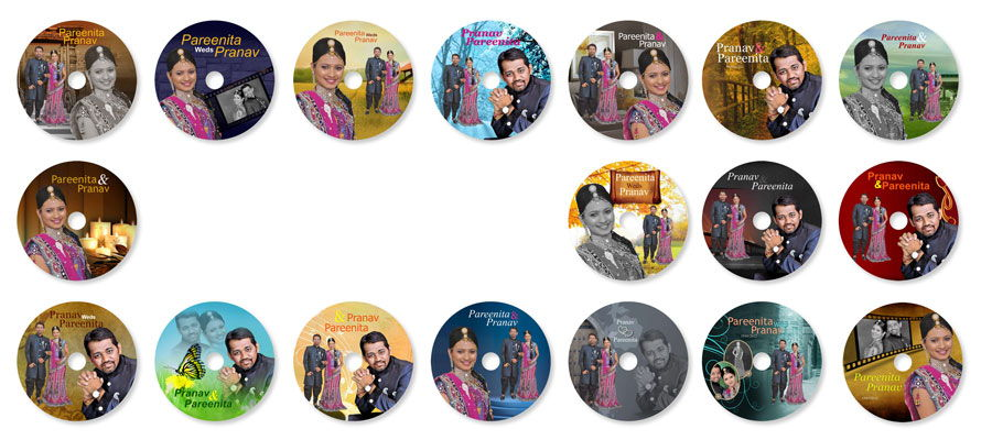 Design personalized DVD top for wedding DVD with 50+ ready designs in DM Xpress