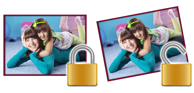 Video Xpress locks the Photos and objects like cliparts, masks, borders to ensure precise designing