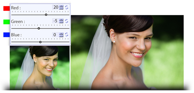 Manage (RGB) Color correction while photo editing in Video Xpress