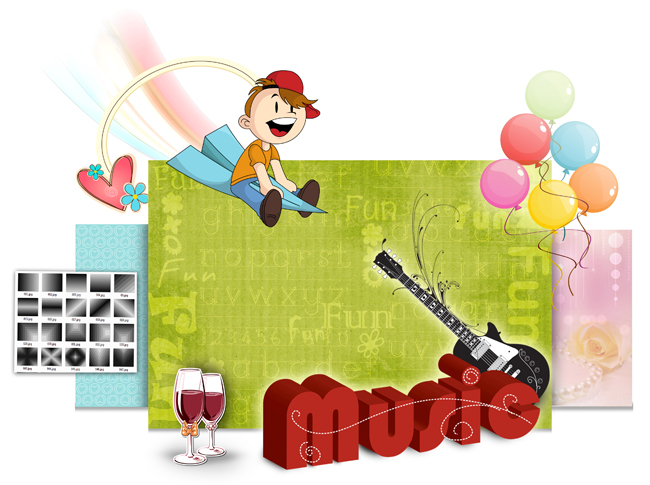Get Huge collection of decors and Cliparts with Video Xpress