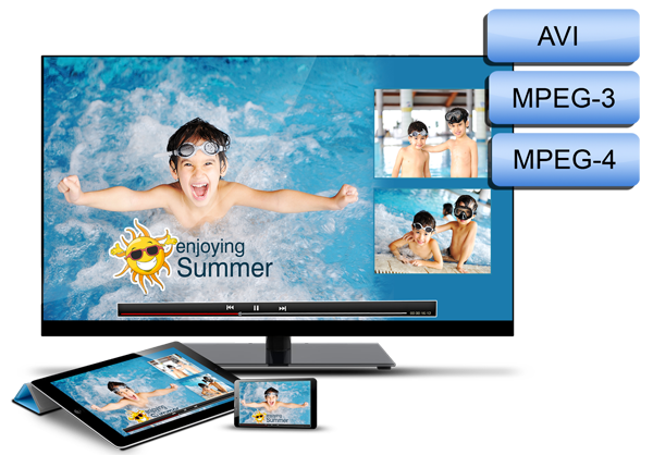Get variety of import formats like AVI, MPEG3, MPEG4 within Video Xpress