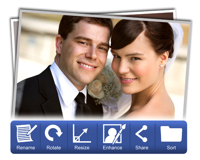 Advance Photo Manager helps in Color corrections, rename, enhance & share within Video Xpress