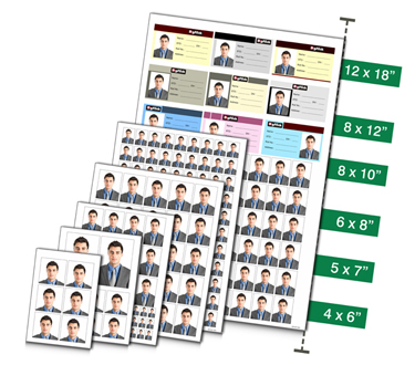 Get predefined ready made passport sizes available on single click with Passport Xpress