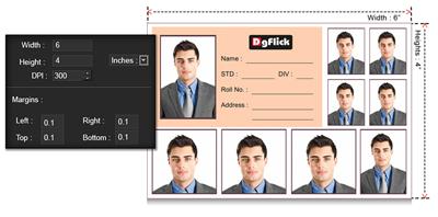 Define quick passport page size and margins using Passport Xpress.