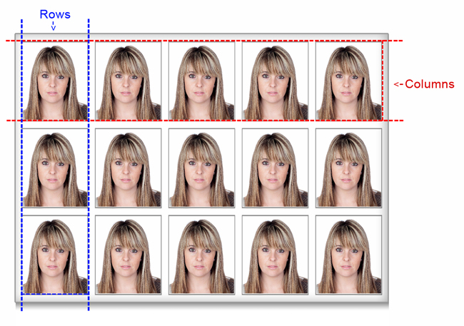 Define Photo Size and Grid for passport package within Passport Xpress