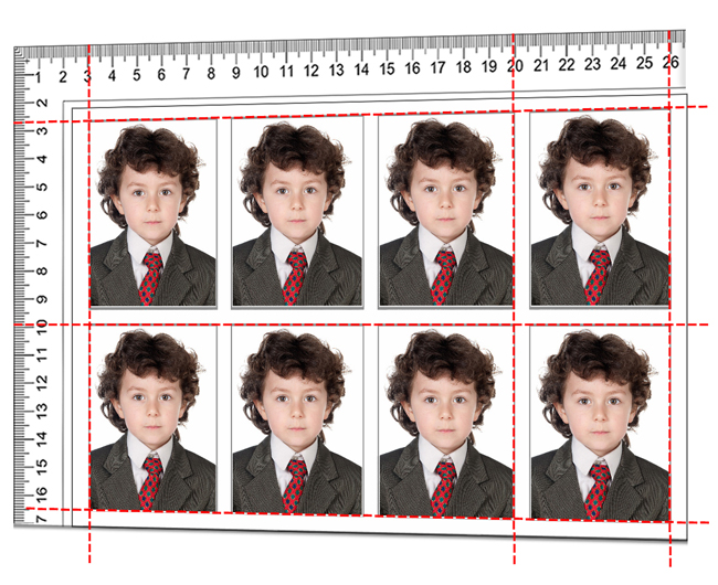 Passport Xpress helps you to position images or elements with ruler & guidelines precisely