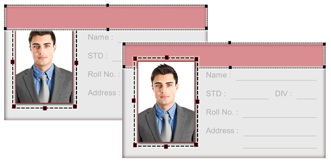 Arrange Objects like photos, shapes & give special touch to the designed page in Passport Xpress