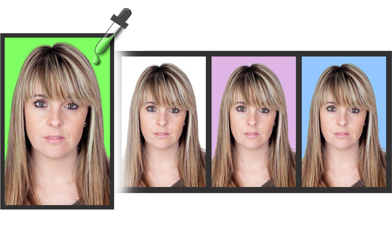 Do Single color background replacement in Single Click within Passport Xpress