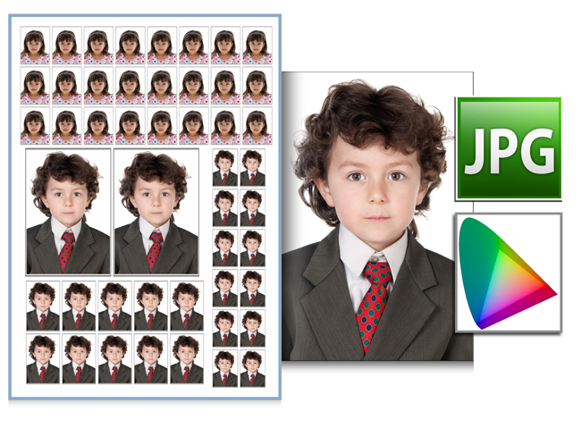 Match the print of photos with color profile support within Passport Xpress