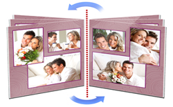 Easy book designing with varieties of layouts available in Book Xpress